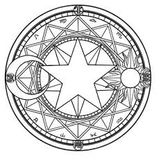 Kleurplaat Sakuramc 8013 Malbuch Malvorlagen Magie Und Hexerei
