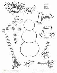Small Picture Build a Snowman Worksheet Educationcom