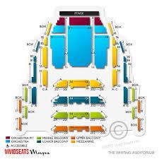Seating Chart Whiting Auditorium