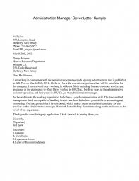 Sample Executive Cover Letter Manager Cover Letter Property
