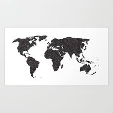 A Map Of The World In Black And White Map World Earth Global