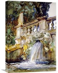 villa torlonia frai by john singer sargent painting print on wrapped canvas