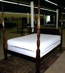 Black Full Size Four Poster Bed Frame Canopy Bedroom Sets ...