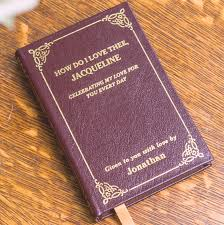 how do i love thee customized leather book