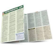 Environmental Law Tri Fold Laminated Chart Inc Barcharts