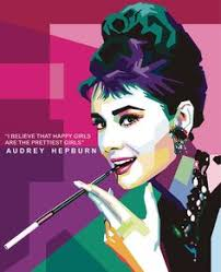 art pop low poly paper cutting handmade cards fashion ilrations audrey hepburn abstract art popup tiffany
