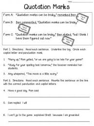 Punctuation Marks Worksheet Quotation Marks Anchor Chart With Freebie