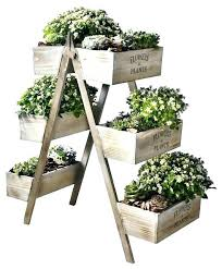herb plant stand garden flowers and plants wooden six seed boxes outdoor stands uk ind outdoor garden plant stand