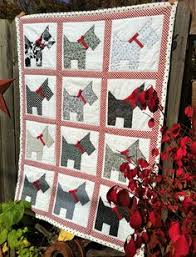 Cute Christmas Scottie Dog Quilt - Bitsy Button & Friends pattern ... & November 12 - Featured Quilts on 24 Blocks - 24 Blocks Marci Carter: