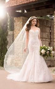 mermaid wedding dresses plus size sparkling mermaid wedding gown