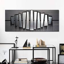 grey wall decor abstract art