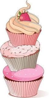 vintage cupcakes drawing.  Cupcakes Cupcake Drawing On Vintage Cupcakes