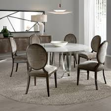 london collection round carrara marble designer dining table set