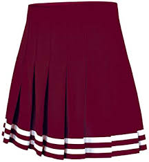 Double Knit Knife Pleat Skirt Maroon Youth Small
