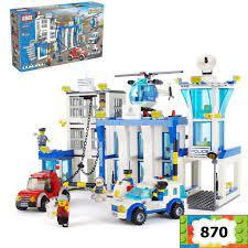 Đồ chơi lego city trạm cảnh sát thành phố giúp trẻ tư duy sáng tạo bộ lắp  ghép với 870 mảnh ghép
