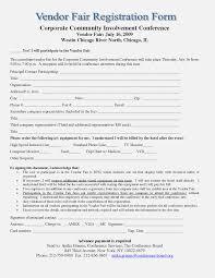 Vendor Form For An Event The Latest Trend In Vendor Form Vendor