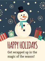 Holidays Snowman Happy Snowman Happy Holidays Card Birthday Greeting Cards By Davia