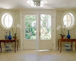 white double front door. Amazing Home With Double Front Doors: Greenwich French Traditional Entry Wooden Wood Antique Ceramic Seat Vintage Desk And White Door E