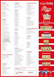 Lista De Compras Para El Supermercado Riera Te Acerca Una Lista De Compras Para Que Lleves Al Super Y