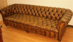 Fabulous Chesterfield Tufted Leather Sofa 98 Inch