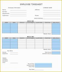Employee Weekly Time Sheet Free Weekly Timesheet Template Of 60 Sample Timesheet