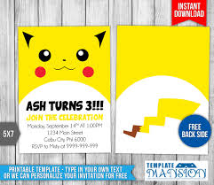 pokemon birthday invitations gangcraft net pokemon birthday invitation templates birthday invitations