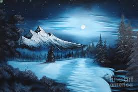 painting painting winter painting a la bob ross by bruno santoro