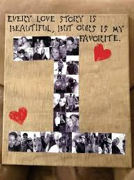 number photo collage valentines gift for boyfriend ideas romantic gifts him