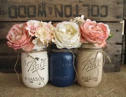Painted Mason Jars Sale Set Of 3 Pint Mason Jars Painted Mason Jars Rustic