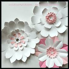 Tissue Paper Flower Wall Art Paper Flower Wall Decoration Unusual Design Room Decor With Paper