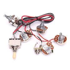 electric guitar wiring harness kit 2 vol 2 tone jack 3 way switch Custom Guitar Wiring Harness electric guitar wiring harness kit 2 vol 2 tone jack 3 way switch for les paul electric lp guitar products pinterest les paul, lp and products