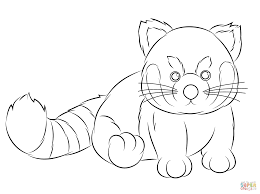 Small Picture Webkinz Red Panda coloring page Free Printable Coloring Pages