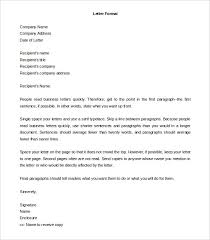 Business Letter Sample Word 20 Formal Letter Templates Word Pdf Apple Pages Free