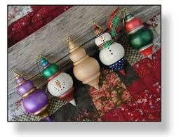 Source for unfinished wood ornaments Set of 6 Medium Persian Snowman King  Ornaments