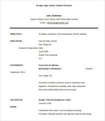 resume example for high school graduate 10 high school graduate resume templates pdf doc free