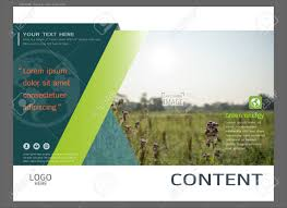 Presentation Layout Design For Greenery Cover Page Template