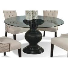 Round glass dining table Expandable 60 Hudsons Furniture Cmi Serena 60