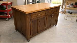 Kitchen Island Table On Wheels Fantastic Kitchen Islands On Wheels Youtube