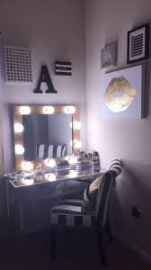 makeup vanity with led lights. that chair tho diy makeup vanity! hollywood mirror with lights. vanity led lights r