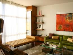 Small Living Room Color Schemes Add Midcentury Modern Style To Your Home Green Velvet Sofa L