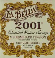 La Bella String Tension Chart La Bella Classical Guitar 2001 Classical Medium Hard Tension 2001 Mht