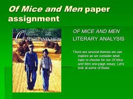 of mice and men friendship ppt video online  of mice and men paper assignment