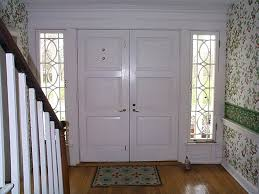 white front doorsDouble Front Doors with Glass Style  Double Front Doors with