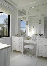 double vanity with makeup area. Double Vanity Makeup Design Paneled Mirrors With With Makeup Area