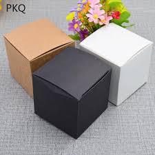 rel small gift packaging box blank white kraft paper craft box 5 5 5cm 6 6 6cm 7 7 7cm 8 8 8cm diy handmade soap paper gift bags paper gift bo from