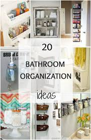 20 Bathroom Organization Ideas via A Blissful Nest. Great design tips to  get your home
