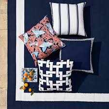 elegant navy outdoor rug solid border indooroutdoor rug navy williams sonoma