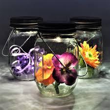 Gadgy Solar Jar Set 3st 3 Glazen Potten Met Led Verlichting Tafellamp Op Zonne Energie Met Dagnacht Sensor Voor Zowel Buiten Als Binnen