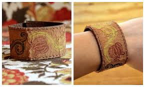picture of make a leather cuff bracelet from an old belt