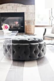 large tufted ottoman padded coffee table ottoman flip top table white leather ottoman